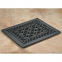 "Scroll Design Cast Iron Heat Grate or Register, 10-1/4"" x 12-1/4"""