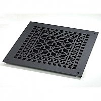 "Scroll Design Cast Iron Heat Grate or Register, 12"" x 12"""