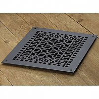"Scroll Design Cast Iron Heat Grate or Register, 12"" x 14"""