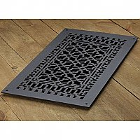 "Scroll Design Cast Iron Heat Grate or Register, 12"" x 24"""