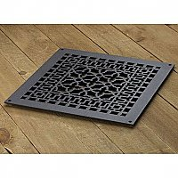 "Scroll Design Cast Iron Heat Grate or Register, 14-1/4"" x 18-1/4"""