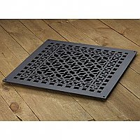 "Scroll Design Aluminum Heat Grate or Register, 6 Finishes Available, 18"" x 18"" Duct Size"