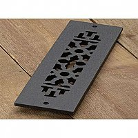 "Scroll Design Cast Iron Heat Grate or Register, 2-1/4"" x 10"""