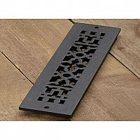 "Scroll Design Cast Iron Heat Grate or Register, 2-1/4"" x 12"""