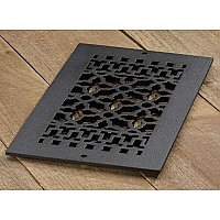"Scroll Design Cast Iron Heat Grate or Register, 6"" x 12"""