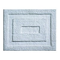 "Small Geometric Cut Fiber Microfiber Spa Bath Rug 21"" x 17""- Water Blue"