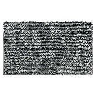 "Ultra-Soft Microfiber Frizz Chenille Bath Rug - 20"" x 30"" - Charcoal"