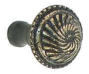 Roanoke Small Cabinet Knob, Antique Brass