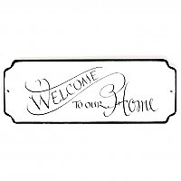"""Welcome to Our Home"" Plaque"