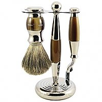 Edwin Jagger 3 Piece Grooming Set - Imitation Light Horn