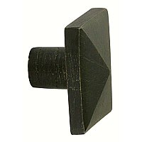 Bronze Square Cabinet Knob - Medium Bronze - 1-1/4""