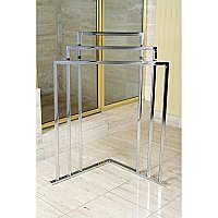 Kingston Brass L Shape 3-Tier Steel Construction Corner Towel Rack - Polished Chrome