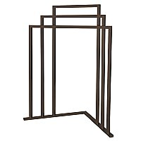 Kingston Brass L Shape 3-Tier Steel Construction Corner Towel Rack - Oil Rubbed Bronze