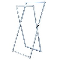 Kingston Brass Pedestal X Style Steel Construction Towel Rack - Polished Chrome