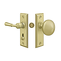 Solid Brass Petite Traditional Storm Door Tubular Latch Set
