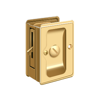 Adjustable Solid Brass Heavy Duty Pocket or Sliding Door Lock - Privacy - Multiple Finishes