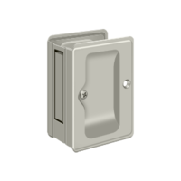 Adjustable Solid Brass Heavy Duty Pocket or Sliding Door Lock - Passage - Multiple Finishes
