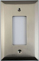 Jumbo Oversized Satin Nickel Stamped Single GFCI Switchplate / Cover Plate