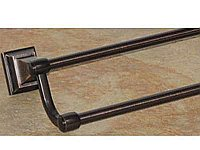 "Stratton 18"" Double Towel Bar in Tuscan Bronze"