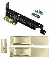 Swinging Door Hinge, Light Duty, Polished Brass Trim