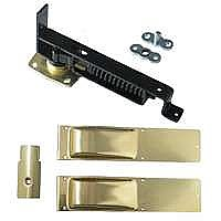 Swinging Door Hinge, Light Duty, Satin Brass Trim