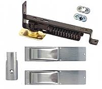 Swinging Door Hinge, Light Duty, Satin Chrome Trim