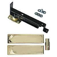 Swinging Door Hinge, Heavy Duty, Polished Brass Trim