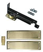 Swinging Door Hinge, Heavy Duty, Satin Brass Trim