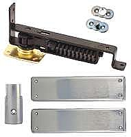 Swinging Door Hinge, Heavy Duty, Satin Chrome Trim