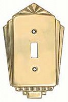 Deco Brass Switchplates