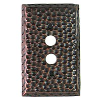 Hammered Copper Forged Double Pushbutton Forged Switchplate