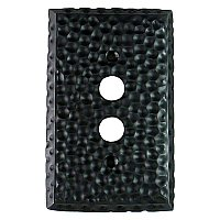 Hammered Black Forged Single Duplex Forged Switchplate