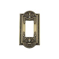 Solid Brass Meadows Switchplate - Antique Brass - Single GFCI
