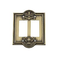 Solid Brass Meadows Switchplate - Antique Brass - Double GFCI