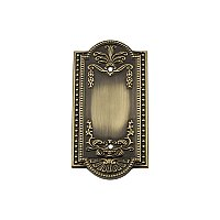 Solid Brass Meadows Switchplate - Antique Brass - Single Blank