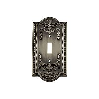 Solid Brass Meadows Switchplate - Antique Pewter - Single Toggle