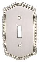 Satin Nickel Rope Design Switchplates