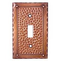 Arts and Crafts Copper Switchplates