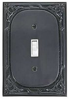 Victoria Eastlake Single Toggle Switchplate - Dark Bronze
