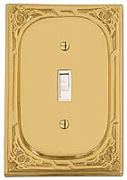 Victoria Eastlake Single Toggle Switchplate - Polished Brass
