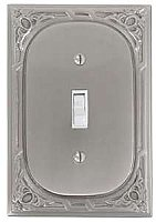 Victoria Eastlake Single Toggle Switchplate - Pewter