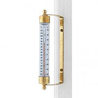 Vermont Indoor / Outdoor Thermometer - Living Finish Brass