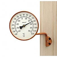 Vermont Dial Window Thermometer, Living Finish Copper