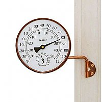 Vermont Weather Station - Thermometer and Barometer - Living Finish Copper