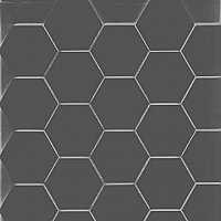"2"" Unglazed Porcelain Hexagon Mosaic Tile - Charcoal"