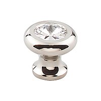 "Hayley Crystal Cabinet Knob - Polished Nickel - 1-3/16"" Diameter"