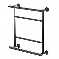 Latitude 2 Hotel Towel Rack - Matte Black