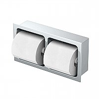 Gatco Double Recessed Wall Mount Toilet Paper Holder - Chrome