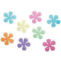 "InterDesign Floral Plastic Non-Slip Safety Tub Treadz for Shower, Bathtub, 4"" x 4"" - Set of 8 - Multi-Colored"