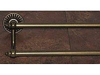 "Tuscany 24"" Double Towel Bar in German Bronze"